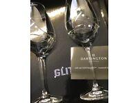 BN Dartington Swarovski Crystal Set Wine Glasses In Presentation Box (4 glasses in 2 Boxes)