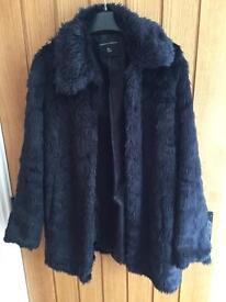Faux fur coat black 12