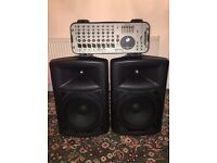 Soundcraft GIGRAC 300 Intergrated mixer and 300W amplifier with 2 speakers
