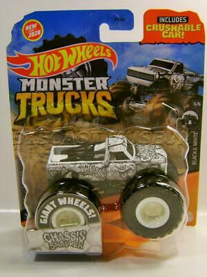 CHASSIS SNAPPER TURTLE 64/75 W/ CRUSHABLE CAR MONSTER TRUCKS HOT WHEELS 2020