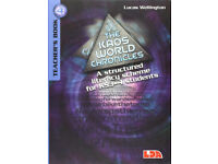 In a sealed packet The Kaos World Chronicles .Teachers Book 4, by Lucas Wellington with CD,
