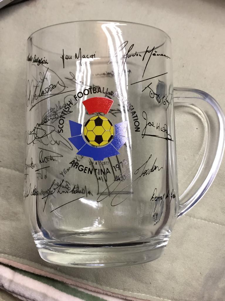 Scotland Football World Cup Argentina 1978 pint glass