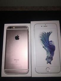 I phone 6s rose gold 16gb 3 network