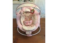 Bright stars pink baby bouncer chair
