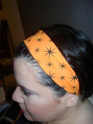 HANDMADE Halloween Orange Fabric  *Women Headband Hair Accessory Hair Band