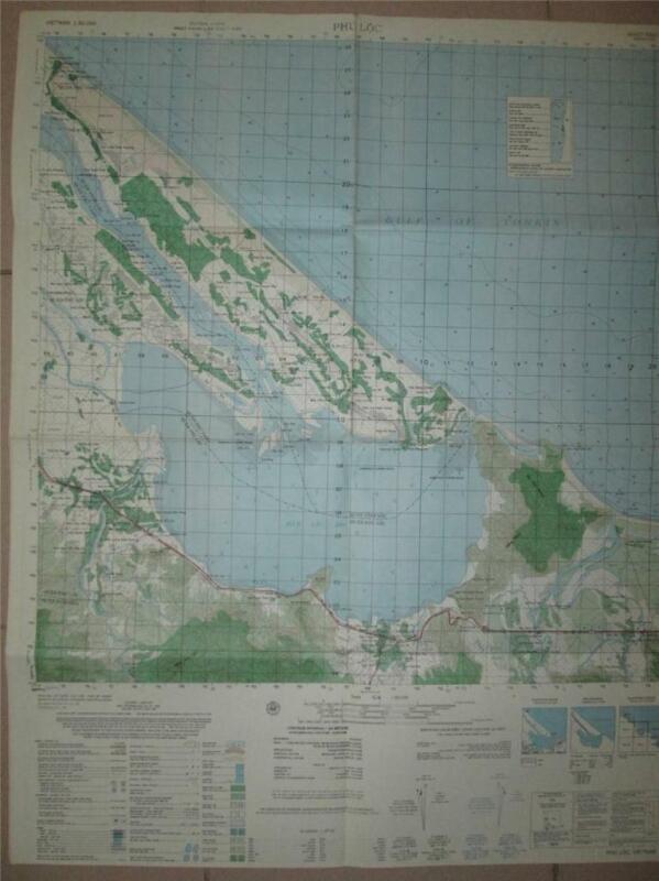 PHU LOC Battle at Thong Dong Luu Bridge Vietnam map 1st Air Cav 6541 I
