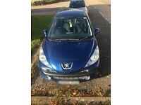 Car for sale! Blue Peugeot!
