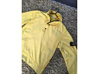 stone island jumper bright yellow size large genuine