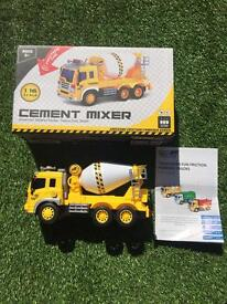 Cement mixer toy truck boxed