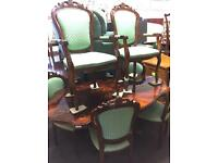 Italian table and 6 chairs.