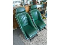 Retro bucket seats