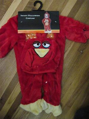 Infant adorable RED BIRD  Halloween Costume ~ Super Cute ~  6-18  Months ~ NEW