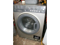 GRAPHITE WASHER DRIER DRYER WASHING MACHINE.FREE DELI VERY B,MOUTH AND LYMINGTON AREAS