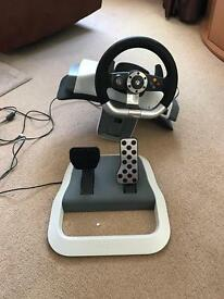 Official Xbox 360 racing wheel and pedals