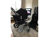 Immaculate bugaboo cameleon 3 limited all black edition raincover