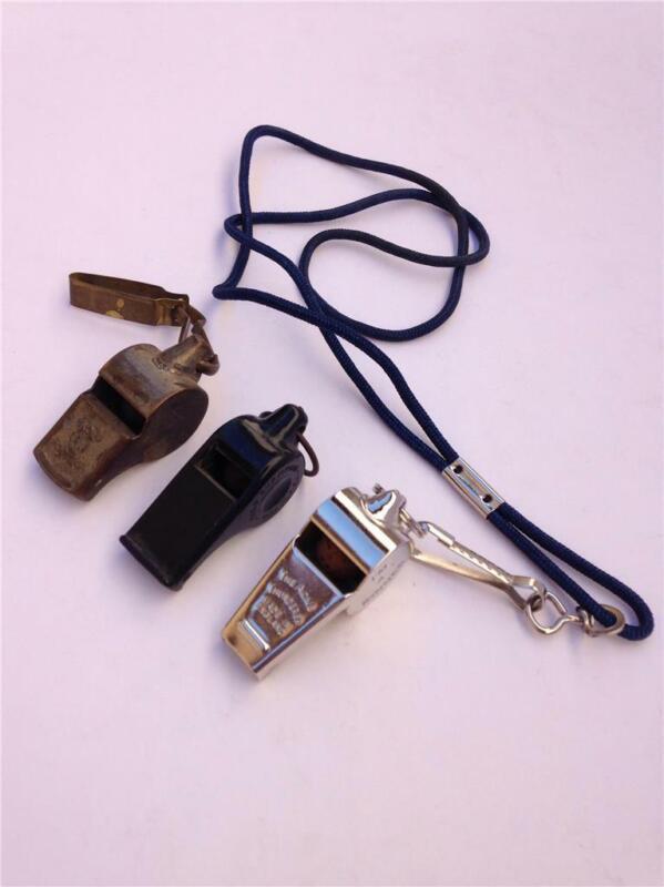 (3) Vintage Whistles - The Acme Thunderer, Field Champion & Crown Thunderer