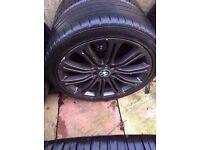 "Bmw m3 19"" black alloy wheel Can post"