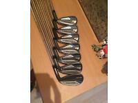 taylormade speedblade irons 5-sw stiff shafts