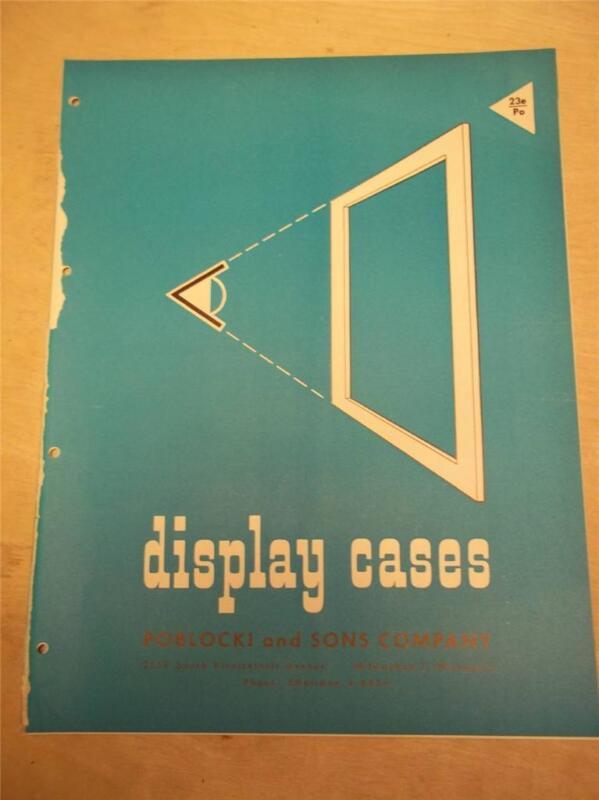 Vtg Poblocki and Sons Co Brochure~Display Cases~Catalog~1956