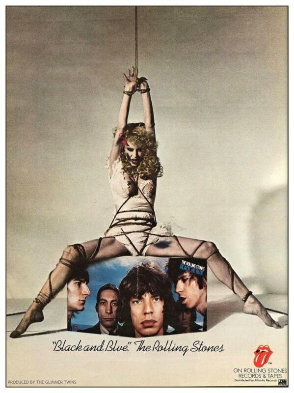 Rolling Stones - LARGE POSTER - Mick Jagger Keith Richards Black & Blue Album