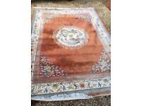 Stunning huge oriental rug 9 x 12ft