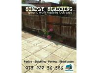 Slabbing patios landscaping