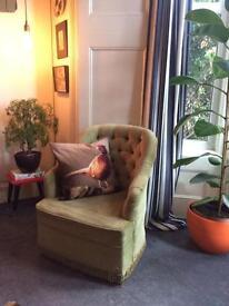 Retro mid century Bedroom/ reading chair