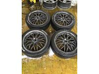 "18"" ALLOY WHEELS FORD FOCUS MONDEO GALAXY TRANSIT CONNECT ASTRA VECTRA ZAFIRA SET OF 4"