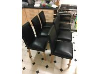 6 X leather Chairs