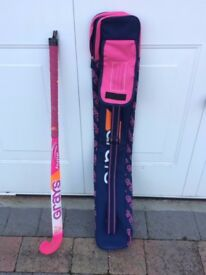 Grays Hype 34 inch Junior Hockey Stick and matching Grays bag / case, excellent used condition