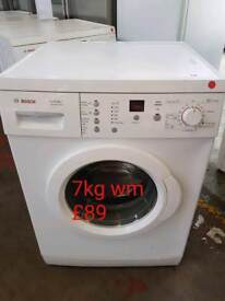Bosch 7kg washing machine free delivery in Coventry