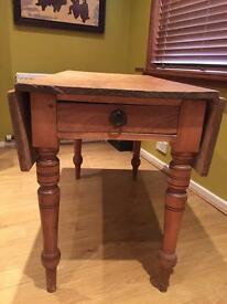 Solid wood drop leaf dining/ occasional table