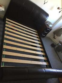 King size kingsize bed very heavy and solid cost 800 new