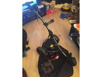motocaddy s1 trolley brolly holder and 27h battery