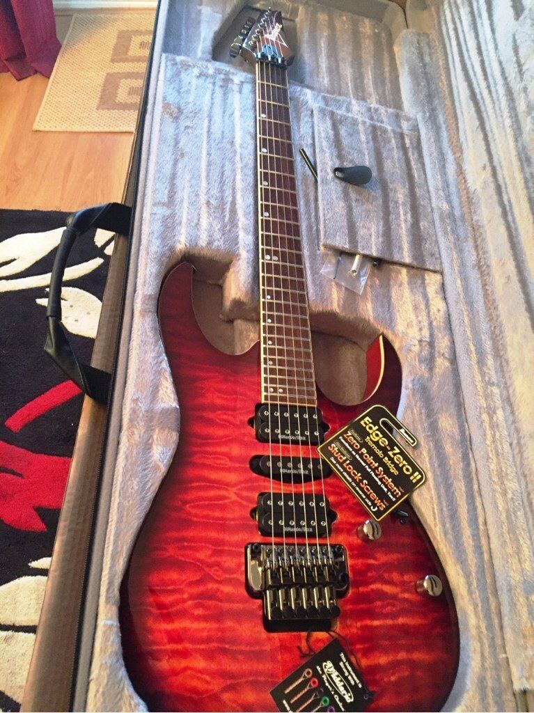 Immaculate Ibanez RG970 WQMZ Premium Guitar, Case, Stand and Tools