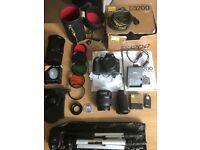Digital Camera Nikon D3200, Accessories Lenses, tripod, Lens adaptors, Remote control