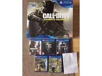 Ps4 slim brand new sealed 6 games warranty delivery