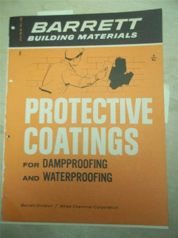 Barret/Allied Chemical Corp Catalog~Protective Coatings/Elastigum~Asbestos~1961