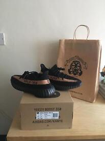 Adidas yeezy boost 350 V2 SPLY cooper/black UK8.5 US9 100%Authentic