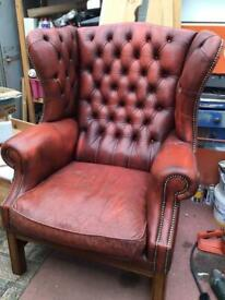Large Wingback Chesterfield Chair