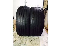 2x BRIDGESTONE TURANZA T001 (NOT RFT) 225/40R18 92W TYRES *MATCHING PAIR 7.2MM & 6.7MM NEARLY NEW!