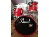 "Pearl Session Elite 3 Piece Drum Kit 20"" Bass Drum"