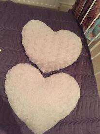 Heart pillows