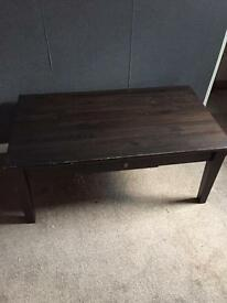 *REDUCED* Dark wood coffee table