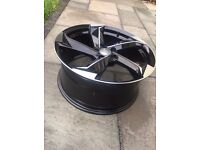 "NEW 4x 18"" inch Audi Rotor Twist Arm Alloy Wheels BLACK A3 A4 A5 RS3 RS4 RS5 RS6 S5 S3 S4 TTRS mhqqe"