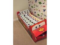 Disney Cars 'Lightning McQueen Toddler Bed With Storage & mattress