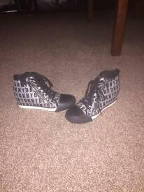 DKNY wedge trainers size 5