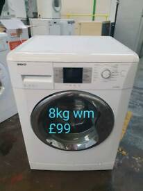Beko 8kg washing machine free delivery in Coventry