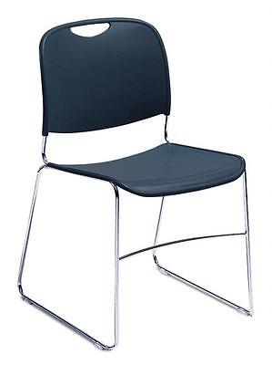 Nps Ultra Compact Plastic Stack Chair Navy Blue Wchrome Frame Set Of 1 8505 New