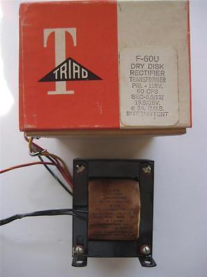 Triad Dry Disc Transformer F-60u Sec 6.51319.526 Vac 3 A Pri 115v Rectifier
